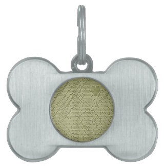 soft stitch beige pet name tag