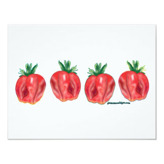 "Soft Strawberries 4.25"" X 5.5"" Invitation Card"