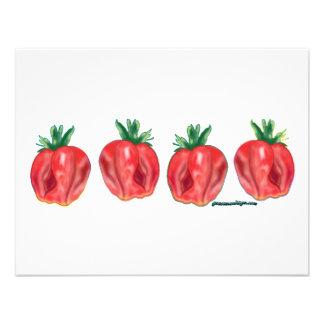 Soft Strawberries Custom Announcements