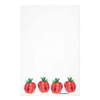 Soft Strawberries Customized Stationery
