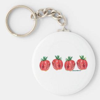 Soft Strawberries Keychains