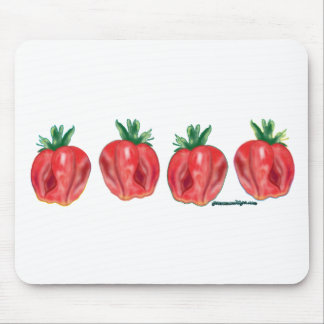 Soft Strawberries Mouse Pad