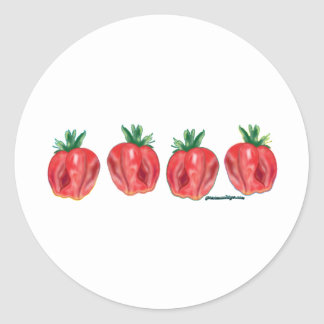 Soft Strawberries Stickers