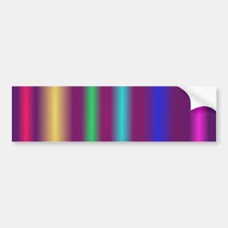 Soft Stripes Bumper Sticker