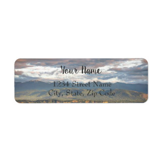 Soft Sunset Address Labels