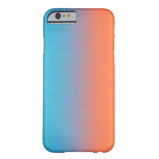 Soft Toned Orange Blue Barely There iPhone 6 Case
