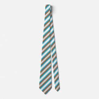 Soft Toned Orange Blue Beige White Pattern Tie