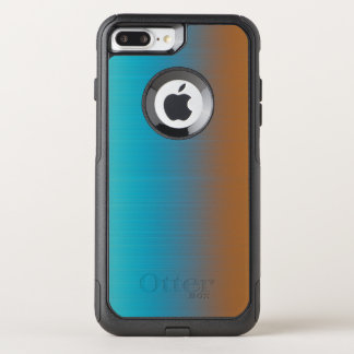 Soft Toned Orange Blue OtterBox Commuter iPhone 8 Plus/7 Plus Case