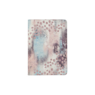 Soft Touch Painterly Passport Holder