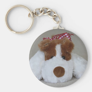 Soft Toy Puppy Key Ring
