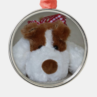 Soft Toy Puppy Metal Ornament