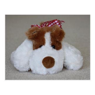 Soft Toy Puppy Postcard