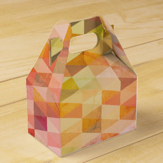 Soft Triangle Geometric Pattern Favour Box