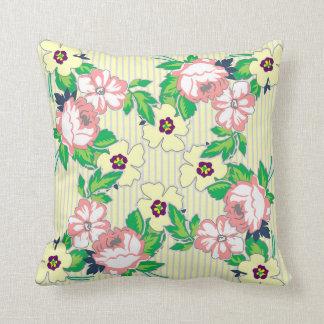 Soft Vintage Roses Pillow