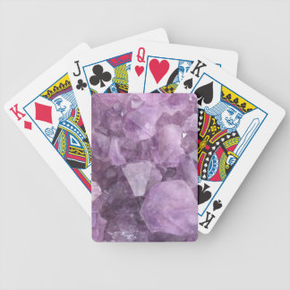 Soft Violet Amethyst Bicycle Playing Cards