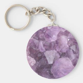 Soft Violet Amethyst Key Ring