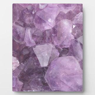 Soft Violet Amethyst Plaque