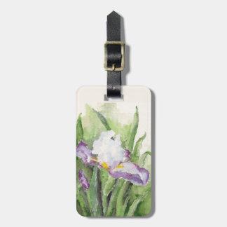 Soft Watercolor Iris Bag Tag