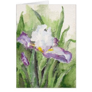 Soft Watercolor Iris Note Card