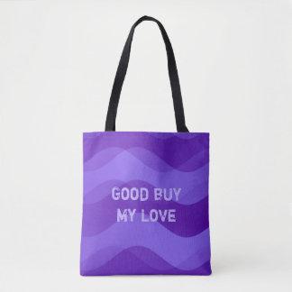 Soft Waves pattern - violet + your ideas Tote Bag