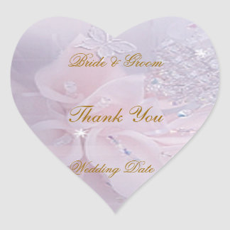 Soft Wedding Thank You Sticker