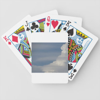 Soft white clouds against blue sky background bicycle playing cards