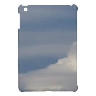 Soft white clouds against blue sky background iPad mini cover
