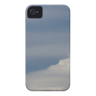 Soft white clouds against blue sky background iPhone 4 cover