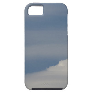 Soft white clouds against blue sky background iPhone 5 case