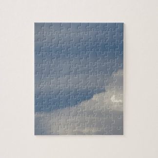 Soft white clouds against blue sky background jigsaw puzzle