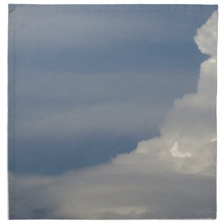 Soft white clouds against blue sky background napkin