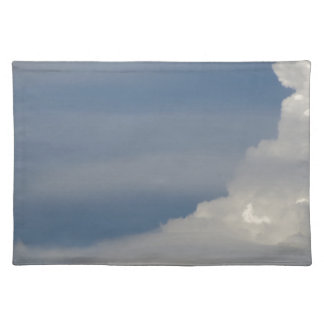 Soft white clouds against blue sky background placemat