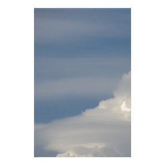 Soft white clouds against blue sky background stationery