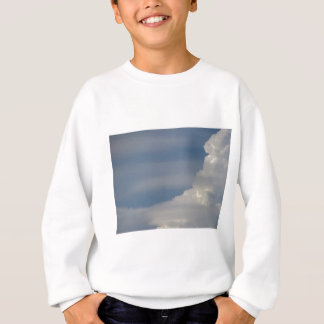 Soft white clouds against blue sky background sweatshirt