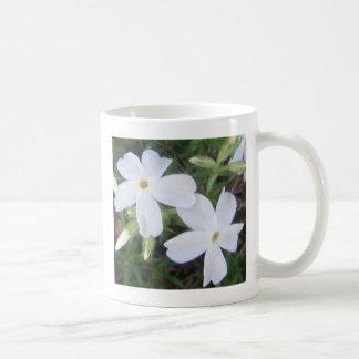 Soft white floral customizable Mug