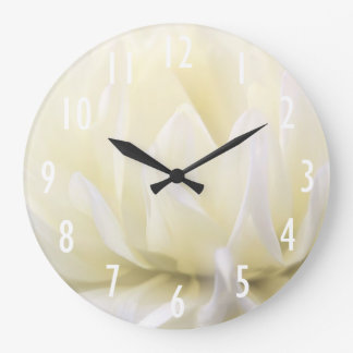 Soft White Flower Wall Clock