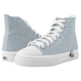 Soft White Flowers High Top Shoe Design