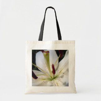 Soft White Lily Up Close Tote Bag