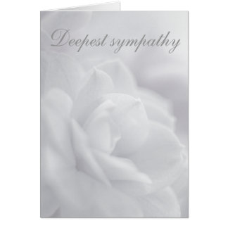 Soft white petals ... card