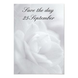 Soft white petals ... invitation 13 cm x 18 cm invitation card