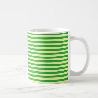 Soft Yellow and Green Stripes Coffee Mug