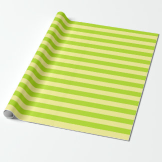 Soft Yellow and Lime Green Stripes Wrapping Paper