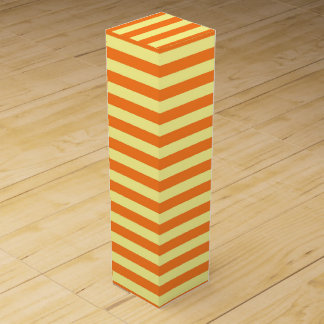 Soft Yellow and Orange Stripes Wine Gift Box