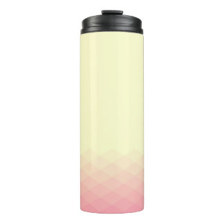 Soft Yellow and Pink Gradient Thermal Tumbler