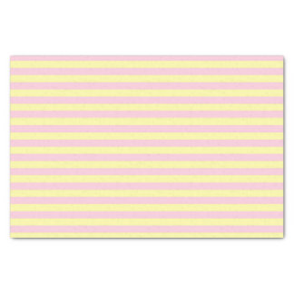 Soft Yellow and Soft Pink Stripes Tissue Paper