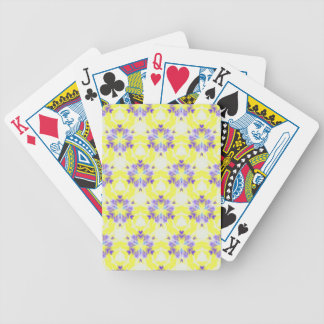 Soft Yellow Lavender Fractal Seamless Pattern Bicycle Playing Cards