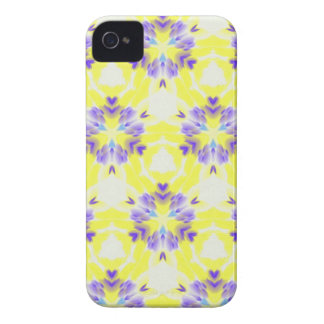 Soft Yellow Lavender Fractal Seamless Pattern iPhone 4 Cases