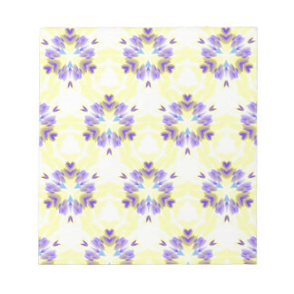 Soft Yellow Lavender Fractal Seamless Pattern Notepad