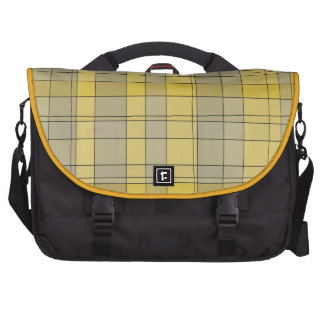 Soft Yellow Plaid Commuter Bag