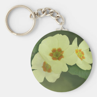 Soft Yellow Primrose Flowers Key Ring
